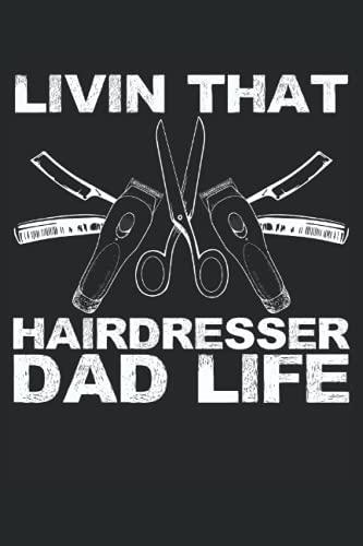 Livin che parrucchiere da padre vita: Taccuino a forbice |. Taccuino da papà parrucchiere |Hairstyle Journal |. Taccuino barbiere |. Notebook da padre cosmetologo.