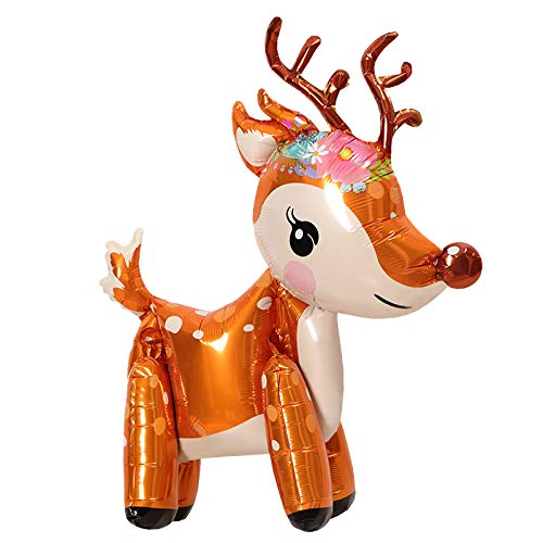 The Little Leisure Company REINDEER balloon - 1 REINDEER Balloon - Perfect for Christmas, Birthdays and Birthday Parties - REINDEER