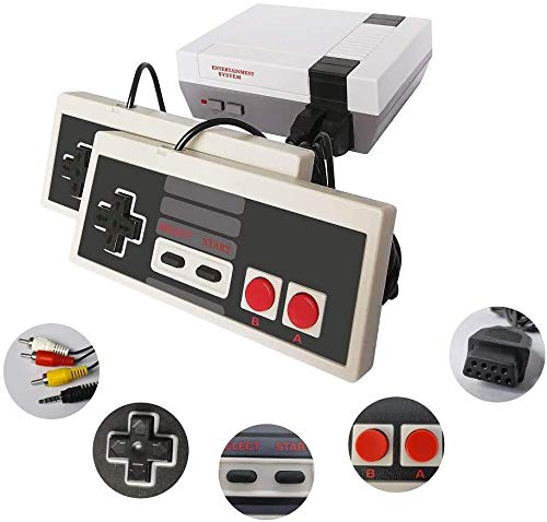 Classic mini Game console -Retro game console with 2 NES Classic controller AV output video Games Built-in-620 Classic Games for Kids,Children Gift,Birthday Gift choice for Children and adults