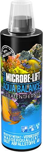 MICROBE-LIFT Aqua Balance - reinigt das Aquarium, reduziert die Anzahl der Wasserwechsel, entfernt Nitrat, Süß- und Meerwasser, 473ml