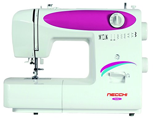 Necchi N82 - Máquina de Coser (Máquina de Coser automática, Rosa, Blanco, Costura, Paso 4, 5 mm, Botones, Giratorio)