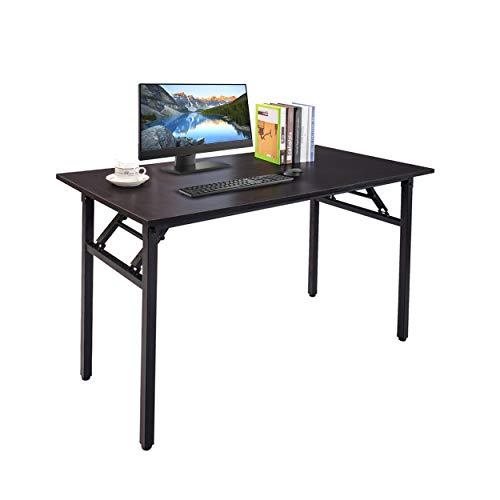 Home Office Desks, Computer Desk, Laptop Desk, Writing Desk, Gaming Table, 47 Inches, Black Desk, Black Frame by Halter