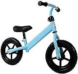 Truco de moto Vespa de la rueda grande para, Equilibrio bicicletas sin pedal Deporte Formación plegable con el manillar ajustable y una silla Azul Rojo Blanco, for de 2-6 años Niño Niña empuje truco d
