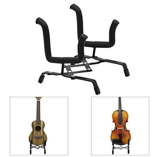 Zusammenklappbarer Tragbarer Gitarrenständer, Stabiler, Leichter Gitarrenhalter, Metallstütze Für Gitarren, Bässe Und Violinen Usw.