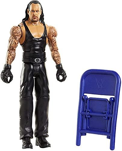 WWE Wrekkin El Enterrador (Undertaker) destroza rivales, muñeco articulado de juguete con silla (Mattel GVJ39)