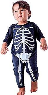 d4d76dfbb Fantasia de Esqueleto Bebê pra Halloween Infantil