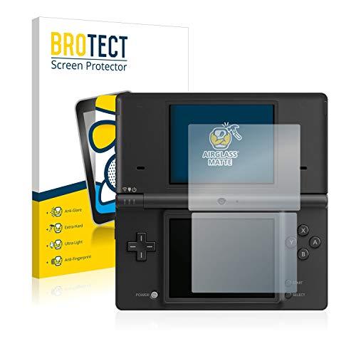 BROTECT Protector Pantalla Cristal Mate Compatible con Nintendo DSi Protector Pantalla Anti-Reflejos Vidrio, AirGlass