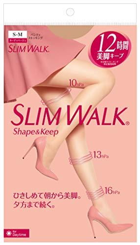 スリムウォーク (SLIM WALK) シェイプアンドキープ(Shape&Keep) パンティストッキング ヌーディベージュ S~...