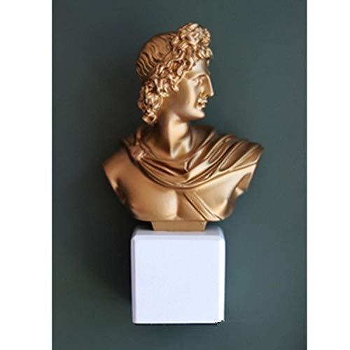 LOSAYM Estatua Decorativa Estatuas para Jardín Retratos De Cabeza De Apolo Retro Busto Estatua Europea Resina Artesanía Nórdica Decoración del Hogar Accesorios