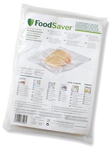 Foodsaver FSB4802-I Vakuumbeutel 48 Stück 20.7x29.2 cm / Folienbeutel für lebensmittel / vakuumierer
