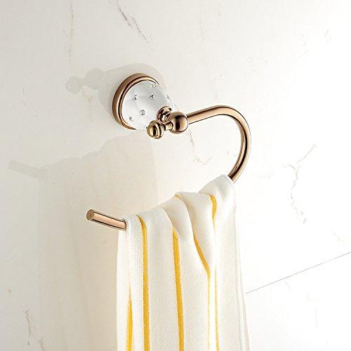 MBYW moderne minimalistische hoge dragende handdoek rek badkamer handdoekenrek Zink legering handdoek ring, badkamer hanger handdoek opknoping, koper handdoek rek, ronde steigers, badkamer handdoek bar