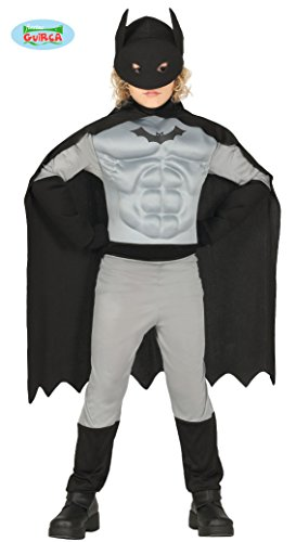 Guirca- Costume Batman Bambino 7/9 Anni, Colore Grigio E Nero, 8845