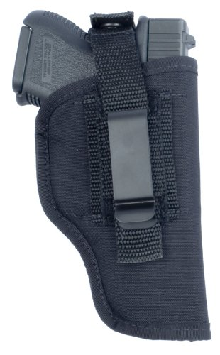 Soft Armor 'In-the-Pant or Hip' Ambidextrous Nylon Gun Holster with Thumb Break Retention Strap, Black, Size 16