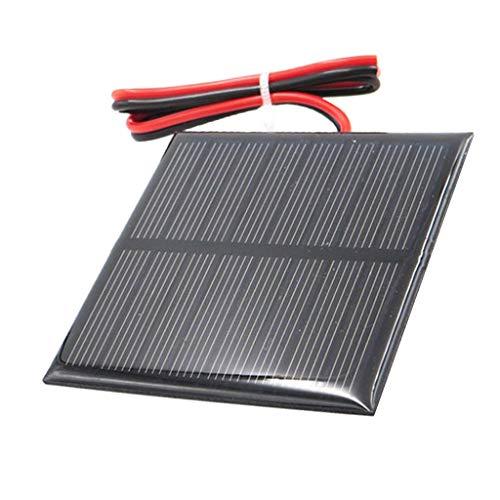 FLAMEER Solarpanel 4V 5V Solarmodul Solarzelle Polykristalline für Handy Spielzeug Wohnmobil, Boot, Kabine, Zelt, Auto, Anhänger - C 4V 70x70mm