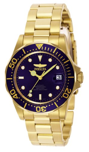 Reloj Invicta Pro Diver Para Hombres 40Mm, Pulsera De Acero Inoxidable Recubierto De Oro