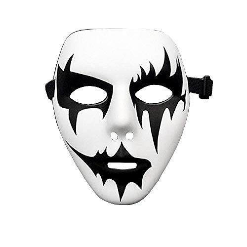 KIRALOVE Modelo 4 - mscara - Jabbawockeez - Hip Hop - Baile Callejero - Fantasma - Beso - Bromista - Pierrot - Blanco - Disfraz - Carnaval - Halloween - Cosplay - Accesorios - Hombre - Mujer Joker