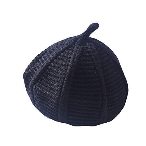 WFZ17 Béret pour Enfants Fille Couleur Unie Crochet Bonnet Hiver Pointu Chapeau Chapeau Chapeau Chapeau Chapeau Noir