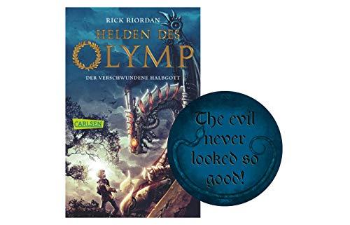 Buchspielbox Héros des Olymp 1 : le demi-dieu disparu (livre de poche) + 1 autocollant méchant.