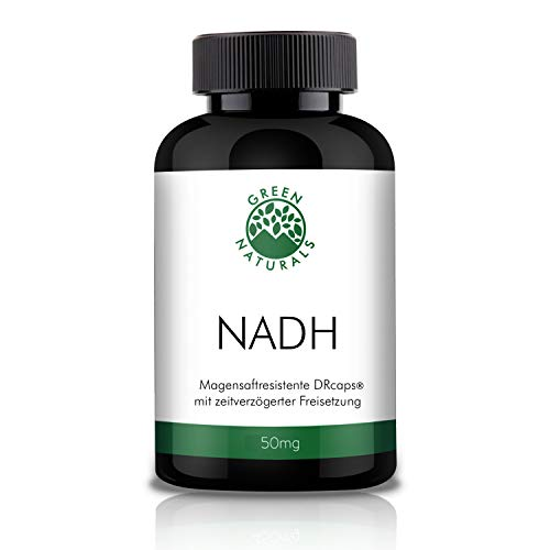 NADH 50mg - 60 magensaftresistente DR-Caps/Kapseln aus deutscher Herstellung – 100% Vegan & Ohne Zusätze