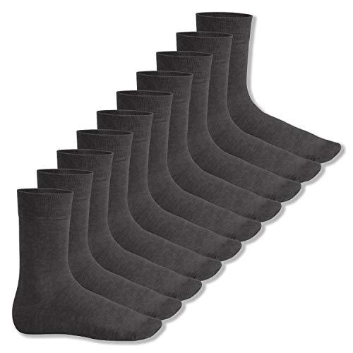 Footstar Herren und Damen Baumwollsocken (10 Paar), Klassische Socken aus Baumwolle - Everyday! - Anthrazit 43-46