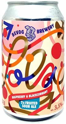 Birra Artigianale BEVOG LOLA 2X - FRUITED SOUR ALE CON RIBES NERO E LAMPONI - 3,5% - LATT. 33 CL x 24