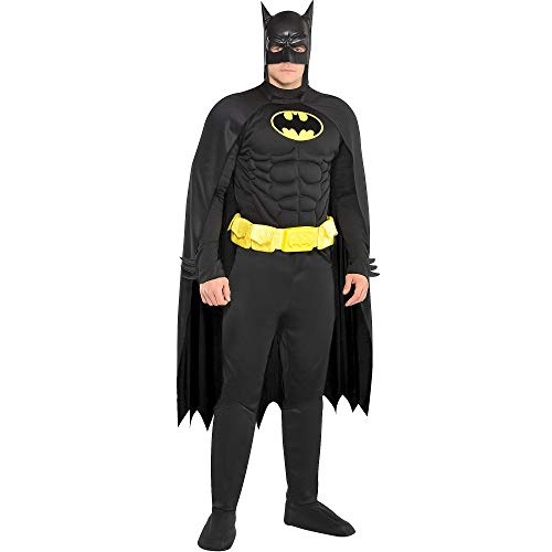 Costumes USA Batman Halloween Costume for Men, Standard Size, Includes Jumpsuit, Mask, Cape and More