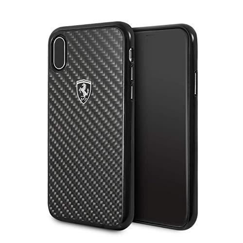 Ferrari FEHCAHCPXBK CG Mobile Handyhülle für Apple iPhone X schwarz