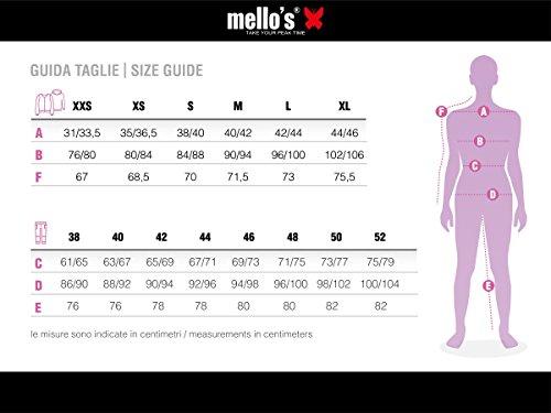 Mello's Pantalone Zoia Lady, Colore Nero/Zip Lilla, Taglia S, Pantalone Stretch Ideale per Trekking Walking Montagna Arrampicata Escursionismo