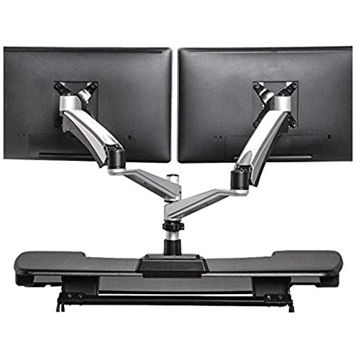 VARIDESK - Dual Monitor Arm - Full-Motion Spring w/ 360 Degree...