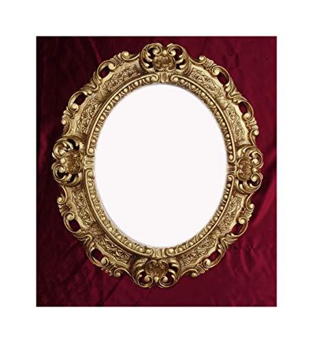 Lnxp WANDSPIEGEL Spiegel Oval in Gold REPRO 45x38 ANTIK BAROCK Rokoko Vintage REPLIKATE NOSTALGISCH Renaissance BAROCKSTIL
