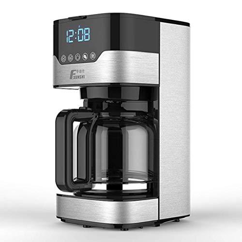 Kaffeemaschine Mit Mahlwerk, Mahlen Und Brühen, LED Frisch Brühen Kaffeemaschine, Geräuschlose Kaffeemaschine Tassen, Filter-Kaffeemaschine Mit Kanne Kombi Kaffeemaschinen Vakuum Kaffeebereiter