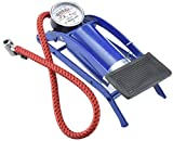 RUMPES High Pressure Foot Pump, Bike Motorbike Inflation Pump with Pressure Gauge, Foot