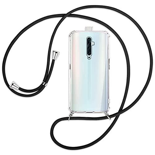 mtb more energy® Handykette kompatibel mit Oppo Reno2 Z (6.53'') - schwarz - Smartphone Hülle zum Umhängen - Anti Shock Full TPU Hülle