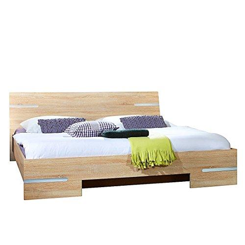 Wimex Schlafzimmer Set Anna, bestehend aus einem Bett und zwei Nächtschränken, Liegefläche 180 x 200 cm, Eiche Sägerau