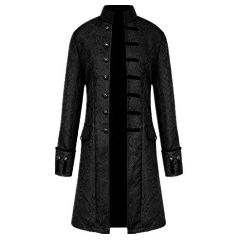 Chaqueta gótica estilo steampunk vintage victoriano Frock abrigo uniforme traje medieval formal gabardina abrigo