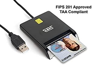Stanley Global SGT111-8 CAC PIV Corporate Smart Card Reader (USB A) (FIPS 201) (TAA Compliant)