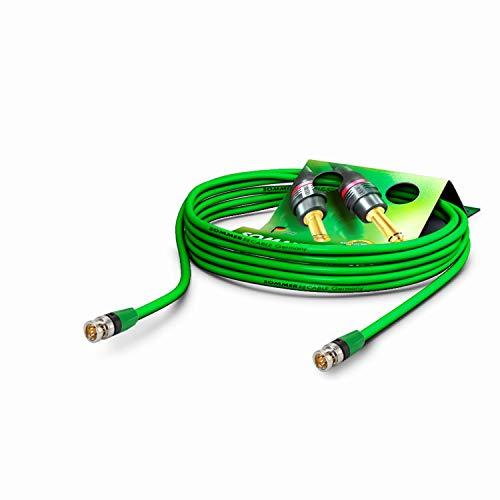 SOMMER CABLE Video-Patchkabel 6G-SDI / 4K SC-Vector 0.8/3.7, BNC/BNC NBNC75BLP9X NEUTRIK Grün (2m)