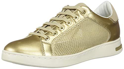 Geox D Jaysen A, Zapatillas Mujer, Dorado (Champagne/Gold Cb52x), 37 EU