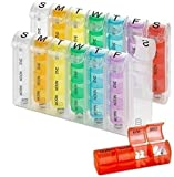 Weekly Pill Organiser - (Pack of 2) Pill Planners for Pills & Vitamins