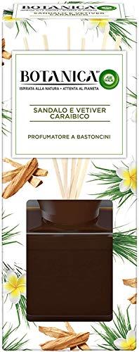 Airwick Botanica, Profumatore per Ambienti con Diffusore a Bastoncini, fragranza Sandalo e Vetiver Caraibico, fragranza naturale - Confezione da 80 ml