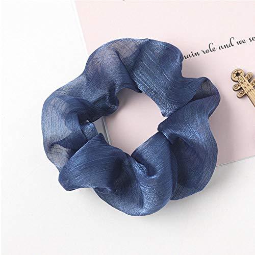 Empty dames zijdeachtig satijn haarelastiekjes voor vrouwen elastische haarbanden paardenstaart houder meisje haartouw haartouw haaraccessoires