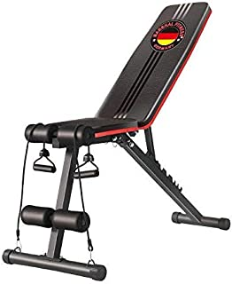 Marshal Fitness Adjustable Sit up Bench Home Use Abdominal Trainer with Six Level of Adjustment-MFDS-S045