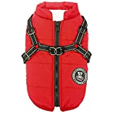 Poseca Dog Clothes for Small Dogs Dog Coat Waterproof Winter Jacket Warm Vest Dog Clothes Dog Coat Warm Winter Dog Jacket with Dog Harness for Small Medium Large Dogs