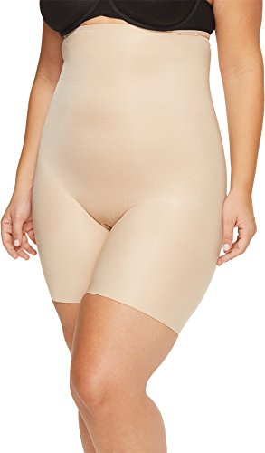 Spanx Plus Size Power Conceal-Her High-Waisted Mid-Thigh Short Natural Glam 2X