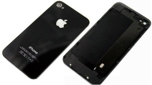 Looby and Ketch Ltd Glasabdeckung für Rückseite für Apple iPhone 4S, inklusive Werkzeug und Schrauben schwarz