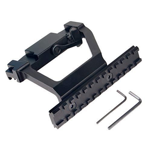 FOCUHUNTER Tactical Metal Top Rail Mount AK74U Side Locker QD Picatinny...
