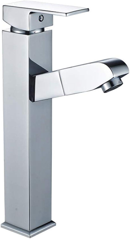 PZXY Wasserhahn Unteren Becken ziehen Kupfer Wasserhahn Waschbecken heien und kalten Wasserhahn quadratischen Krper Wasserhahn 280  170mm