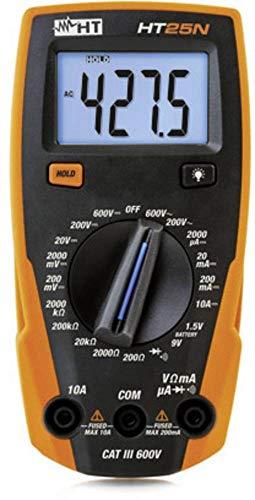 HT-Instruments HT25N Multimetro Digitale Multifunzione Com, Nero/Arancio