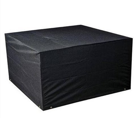 LIVIVO Deluxe Extra Heavy Duty Waterproof Rattan Cube Set Cover with PVC Lining, Eyelets and Drawstring - Designed to fit Rattan Garden Furniture Cube Set for all year round protection