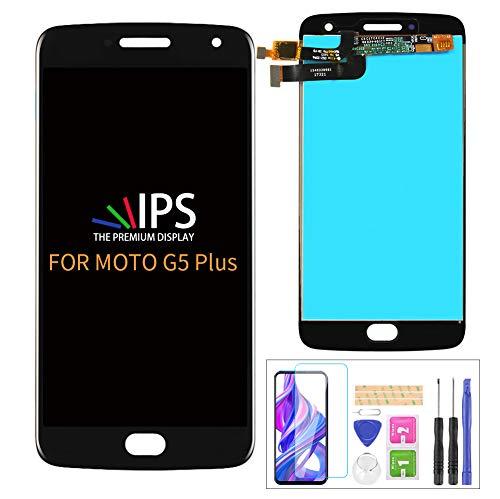 For Motorola Moto G5 Plus XT1686 XT1681 XT1683 XT1684 XT1685 XT1687 Touch Digitizer Display Panel Glass Lens Assembly Screen Repair Parts Kit(Black)